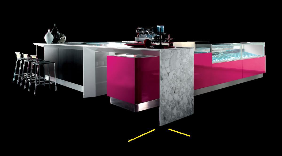Arredamento per bar artic sistema arredo vip for Artic arredo bar
