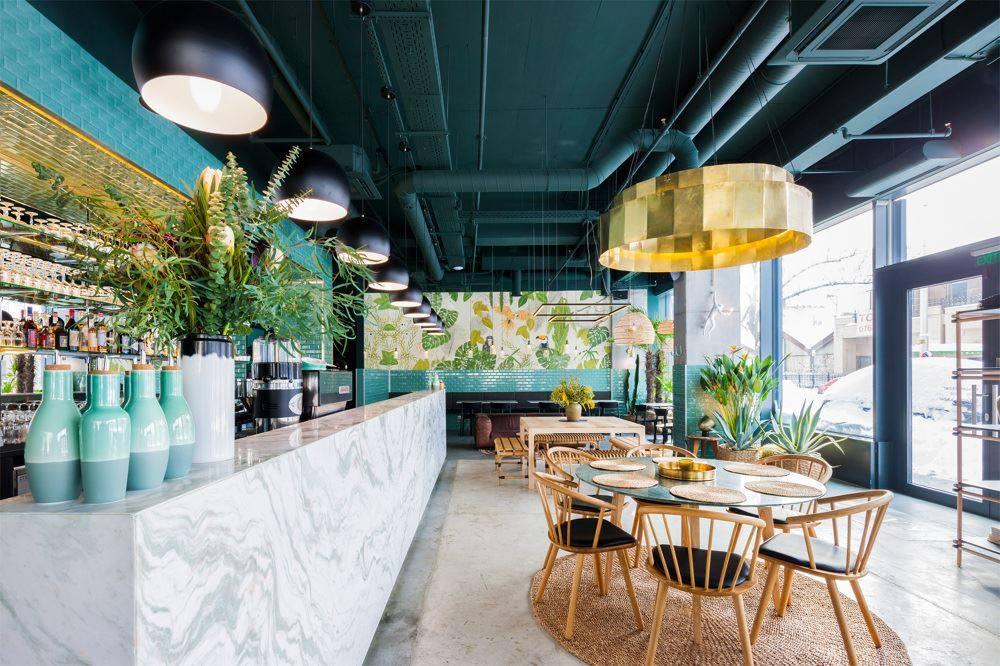 Stile tropical ristorante Bucarest